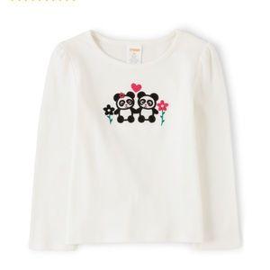 Baby girls Gymboree panda 🐼 shirt. NWT